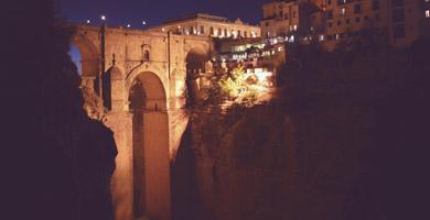 puente nuevo of ronda over el tajo -gorge-