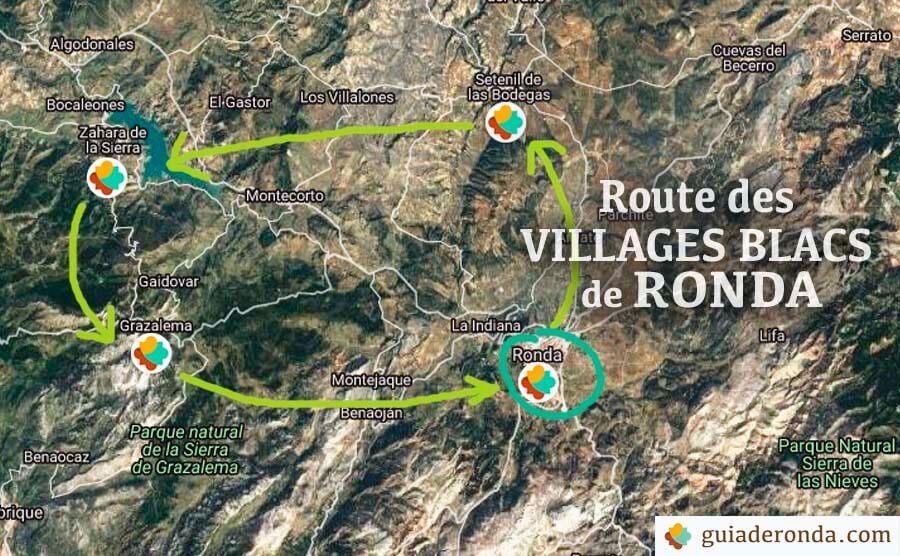 route villages bancs depuis Ronda